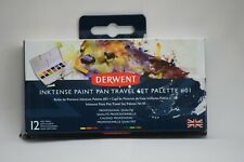 Derwent Inktense Pan Travel Set #01 12 colors. 2302636 Sealed.