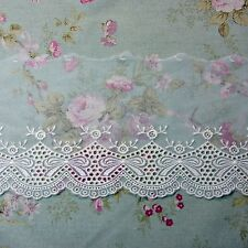 "Ribbon Embroidery Scalloped Tulle Mesh Net Lace Trim 5.3""(13.5cm) Wide 1Yd"