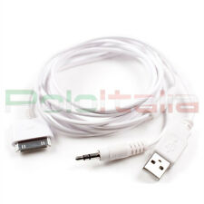 Cavo DOCK USB JACK cavetto adattatore ricarica sync iPod iPhone 4 4s 3 iPad iPod