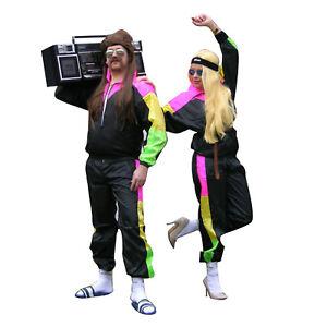 Tracksuit Sports Mens Ladies Fancy Dress Retro Scousers Shell Suit 1980s Costume