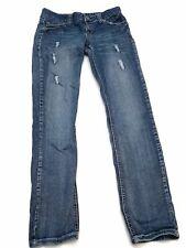 Amethyst Womens Jeans Bootcut Size 7 Factory Distressed Stretch Medium Denim
