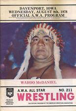 WRESTLING PROGRAM  AWA #211  1978  magazine  WAHOO MCDANIEL  wwe  AWA NWA TNA