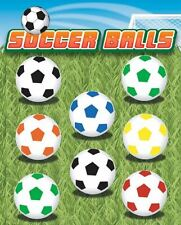 """1"""" 1.1"""" Soccer Ball Toy Assortment Vending Machine only 15 cents each free S&H !"""