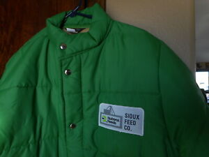 Swingster Vintage Coat Jacket Sioux Feed Co Nutrena Agriculture Advertising Med.