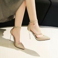 Sexy Party Women High Heels Ankle Strap Stilettos Sequin Evening New Pumps Shoes