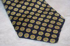 Brooks Brothers Mens Blue 100% Silk Geometric Circle Necktie Neck Tie Made USA