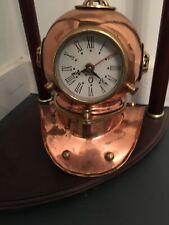 Table Clock – Divers Helmet Brass Copper Diving Bell Helmet with Working Clock