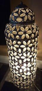 Moroccan Tall Floor Jewelled Lantern Light . floor lamp 27 inches