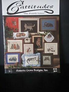 Cattitudes The 4th Litter Cross Stitch Pattern Book
