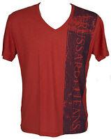 T-shirt maglietta V uomo TRUSSARDI JEANS art.TR0038 taglia S colore 085F COTTO