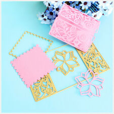 3PCS Gold Metal Cutting Dies Flower Scrapbooking Embossing Stencils Mould DIY