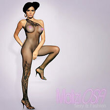 Bodystocking Catsuit Lingerie Intimo Donna Hot NERO Asimmetrico BODY Calza corpo