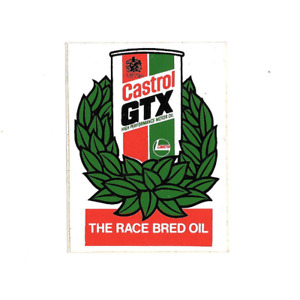 CASTROL GTX RARE EARLY STICKER RARE FORMULA 1 ONE LE MANS LOTUS BRITISH GP F3 F4