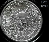 2019 Silver Shield 1 oz. PIECES OF EIGHT BU Silver Round in Capsule! 999 Pure AG