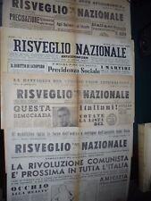 RISVEGLIO NAZIONALE Settimanale Indipendente - Anticomunista LOTTO DI 4 NUMERI