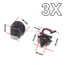 3X Hood Prop Rod Clips, Wiring Harness Clips for Honda