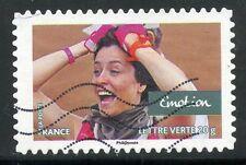 TIMBRE FRANCE AUTOADHESIF OBLITERE N° 809 /  SPORT / VALEURS DE FEMMES
