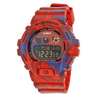 Casio G-Shock Blue and Red Floral Resin Mens Watch GMDS-6900F-4