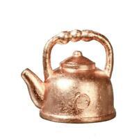 Dolls House Copper Kettle Miniature Teapot 1:12 Scale Metal Kitchen Accessory