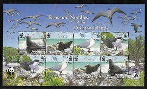 PITCAIRN ISLANDS WWF SHEET - TERNS & NODDIES VF MNH