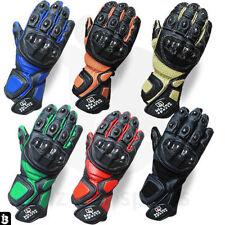 Mens Motorcycle Gloves Cowhide Leather Bikers Glove Motorbike Wears Riders Glove