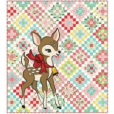 """Deer Christmas Quilt Kit 70""""x 78"""" with Moda Deer Christmas Fabric by Urban Chiks"""
