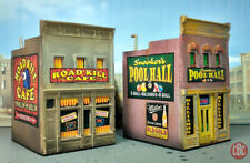 HO LOT~ROAD KILL CAFE & POOL HALL~CUSTOM BUILT WEATHERED STRUCTURES DPM BUILDING
