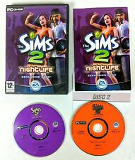 The Sims 2 Nightlife PC Game Expansion Pack Boxed + Manual Great Discs