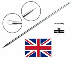 Acne Remover Whitehead Blackhead Spot Pimple Extractor Remover Metal Tool ⭐ UK ⭐