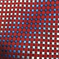KENNETH COLE REACTION Men's Tie Burgundy Blue Silver Geo Fine Silk Neck Tie