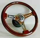 Steering Wheel Mercedes Benz Wood Chrome W124 R129 W202 W140 E500 S G CLK 93-01'