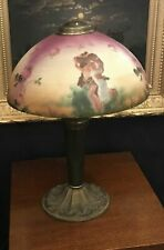 Vintage Antique Pittsburgh Obverse Painted Table Lamp
