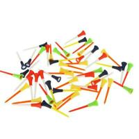 30PC Multi Color Plastic Golf Tees 83mm Durable Rubber Cushion Top Golf Tee