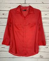 Urban Outfitters BDG Women's S Small Coral Button Cute Spring Top Blouse Shirt