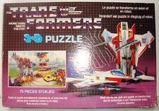 Vintage rare transformers starscream Puzzle 3D Optimus Prime complète 1984 1985