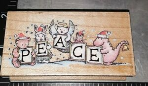 Peaceful kingdom,all night media,,B922,wooden, rubber stamp