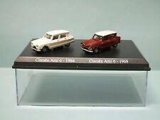 Atlas / Norev - Coffret x2 CITROEN AMI 6 1964 et 1968 neuve en boîte NBO HO 1/87