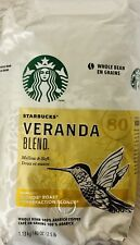 Starbucks VERANDA BLEND Blond Roast Whole Bean 100% Arabica Coffee 40.0 oz-T