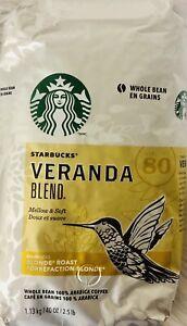 Starbucks VERANDA BLEND Blond Roast Whole Bean 100% Arabica Coffee 40.0 oz-T8