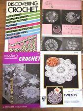 ~4 x VINTAGE CROCHET PATTERN BOOKS/LEAFLETS/PAGES - TWILLEYS, COATS, MORE - GC~