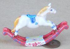 1:12 Scale Ceramic Rocking Horse Nursery Tumdee Dolls House Ornament Accessory