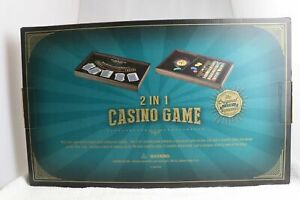 The Original Fun Workshop 2 In 1 Casino Game Roulette And Black Jack New