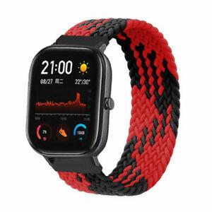 For Garmin Venu SQ Vivoactive 3 Nylon Braided Elastic Loop Band Watch Strap