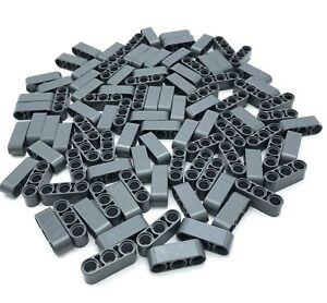 Lego 100 Nuevo Oscuro Gris Azulado Técnica Liftarm 1 x 3 Grueso Piezas