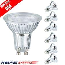 6x 5W GU10 Base LED Bulbs 6000K Daylight Spotlight 500LM Halogen Light Bulb US