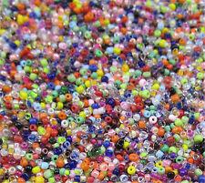 Jewelry Making 1000pcs 2mm Lot Czech glass seed beads  MIX About 15G DIY   !!