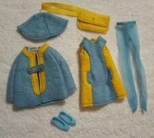 "VTG Barbie's Skipper ""All Over Felt"" Outfit #3476 Complete Purse Stockings Dress"