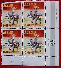 Aland 2002 Europa CEPT  Circus 0,40 EUR  - Block of four New MNH**