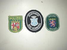 lot de 3 patch allemands (1 pompier et 2 police )