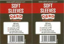 Card Concept Soft Trading Card Sleeves Deck Protectors Packs 100 Standard Sized